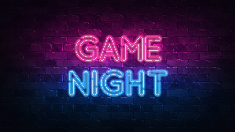 Game Night tect light sign