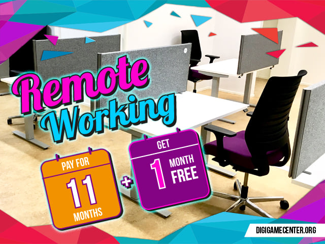 Renmote working tables pay for 11 months get 1 month free
