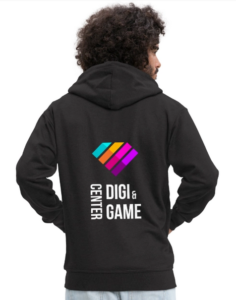 a person with dgc hoodie